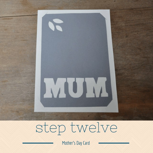 Mothers Day Card step 12
