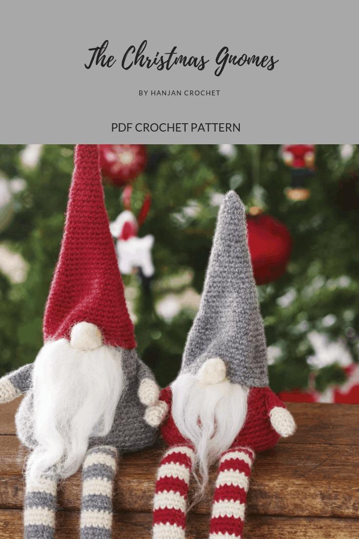 Christmas Gnomes, Jultomten, Crochet Pattern, Instant Download, Christmas, Crochet