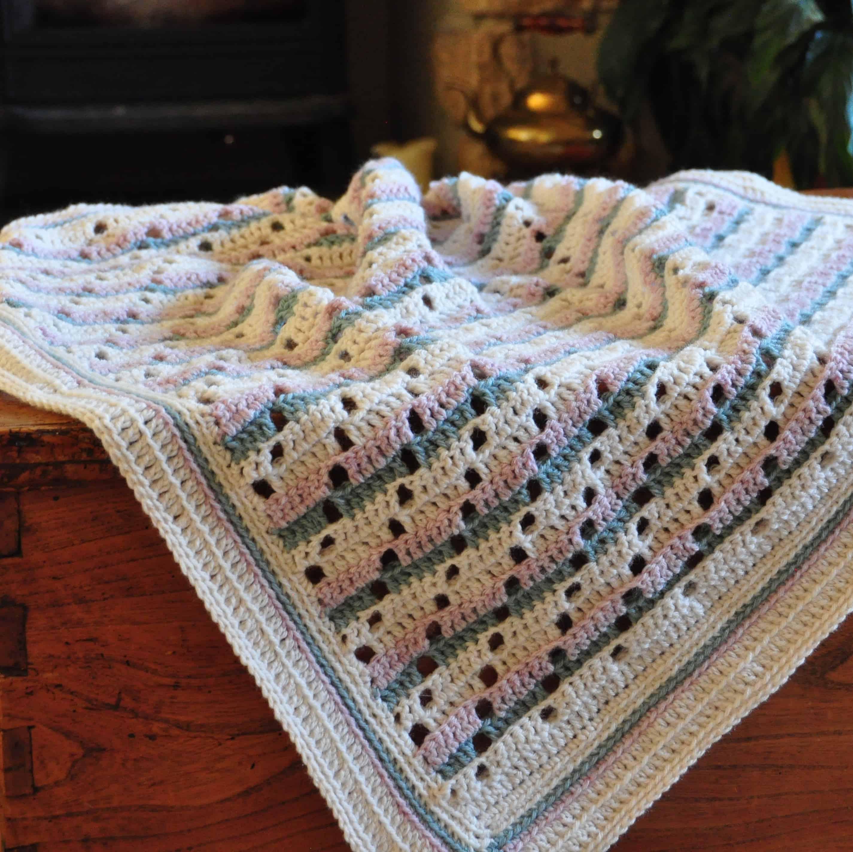 soft steps blanket free crochet pattern by Hannah Cross