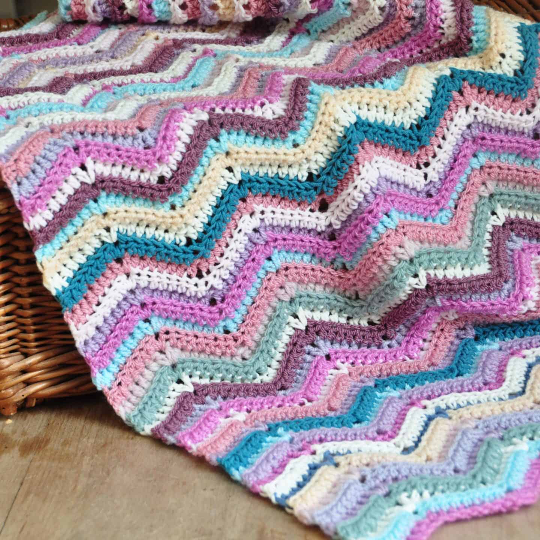 ripple stitch crochet blanket