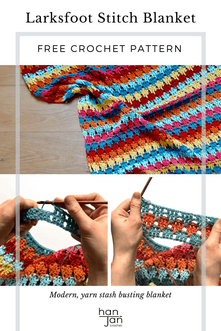 Larksfoot Stitch Blanket Pattern 2