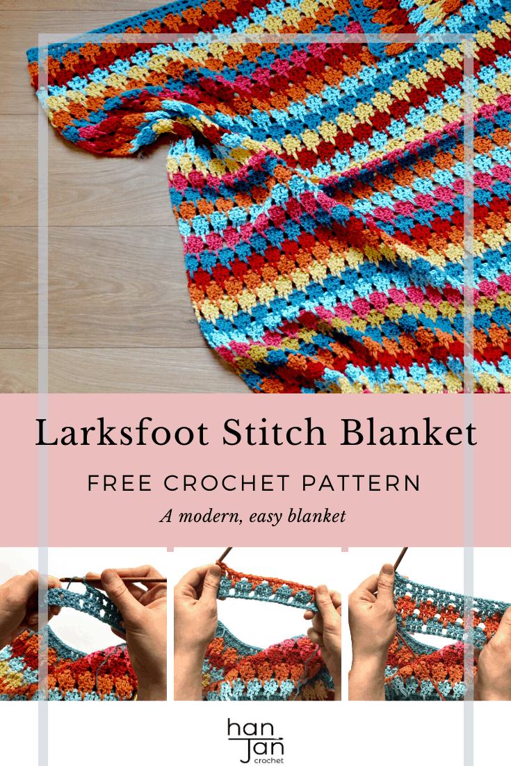 Larksfoot Stitch Blanket Pattern 3