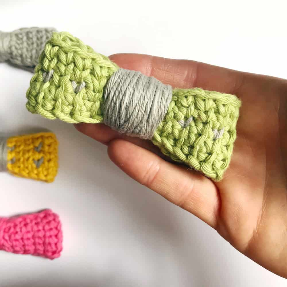 waistcoat stitch crochet bow tie free pattern