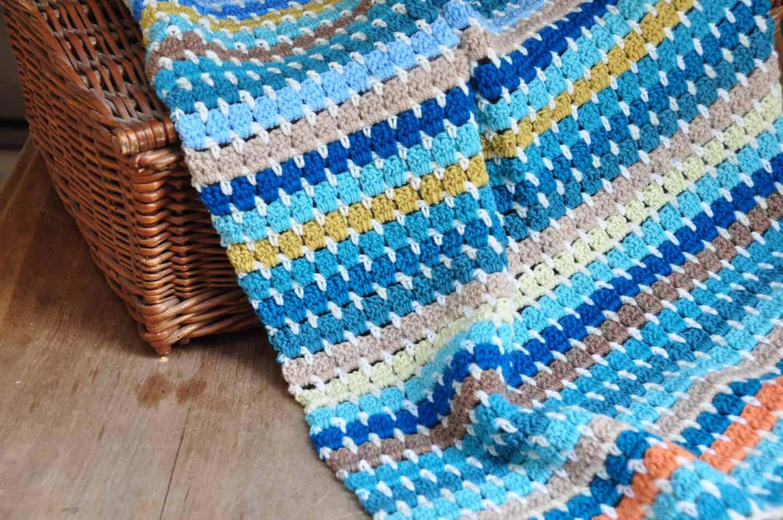 how to crochet the granny block stitch, free crochet pattern