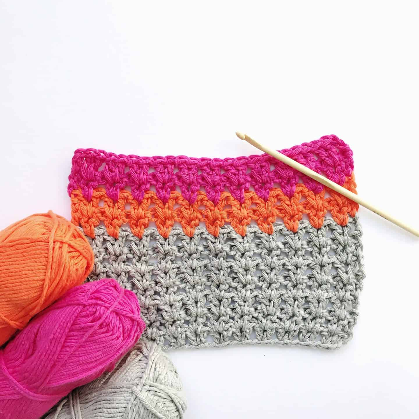 how to crochet the v stitch video tutorial