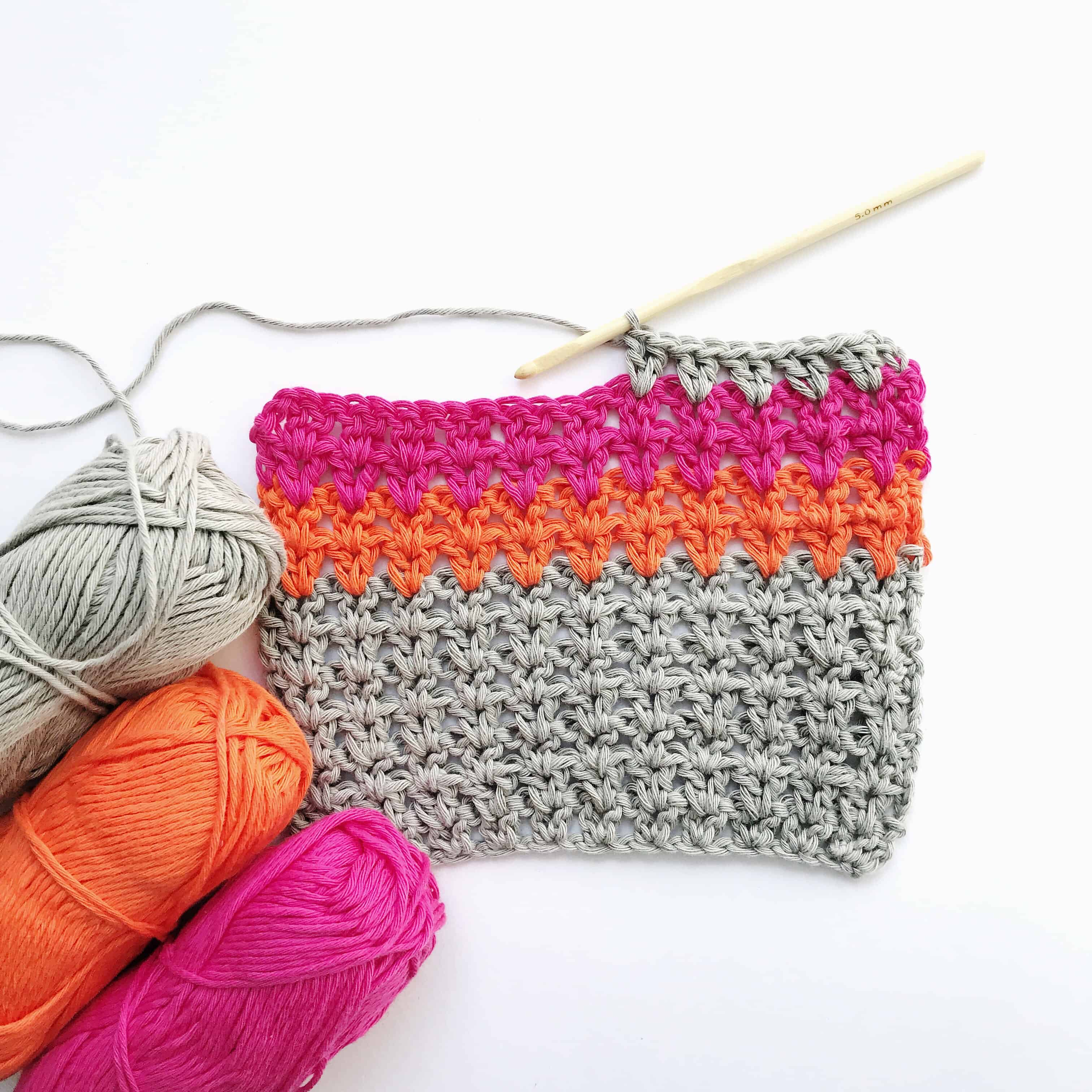 how to crochet the v stitch free video tutorial