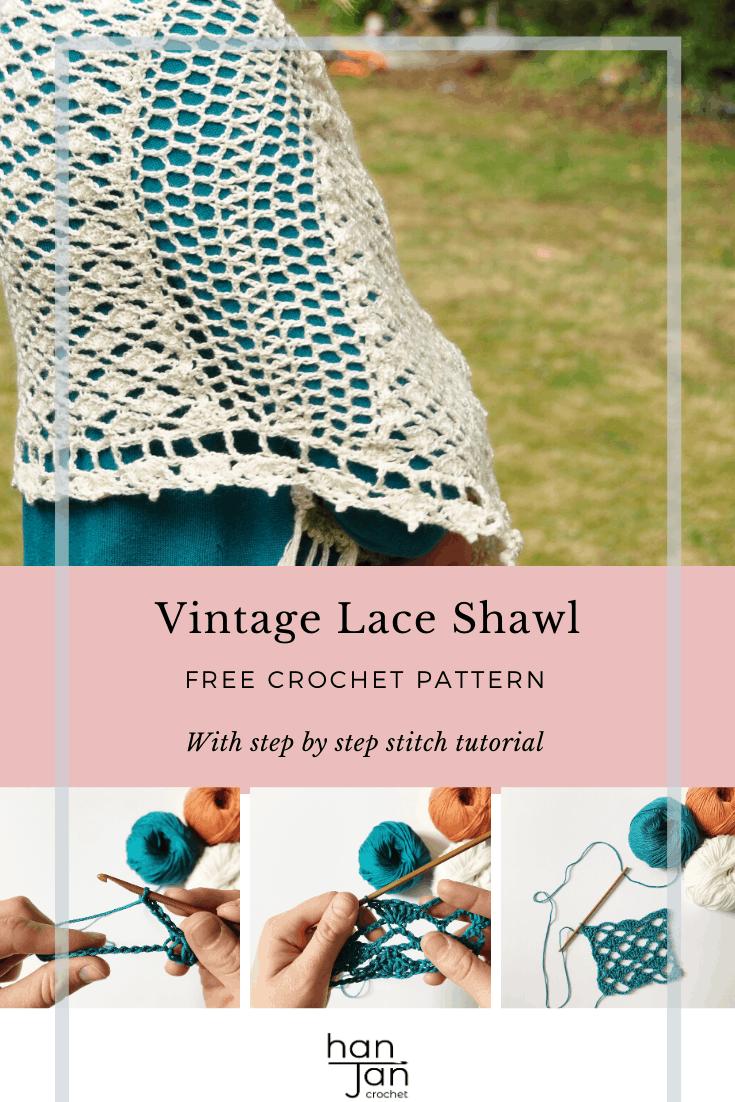 Vintage Lace Shawl 3 1