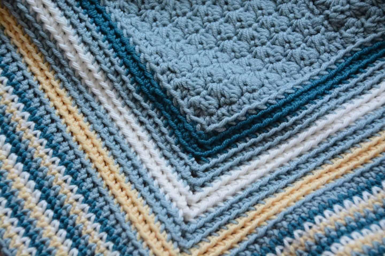 the seaside blanket free crochet baby blanket