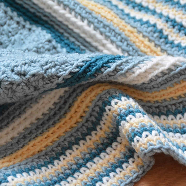 the seaside blanket free crochet baby blanket pattern