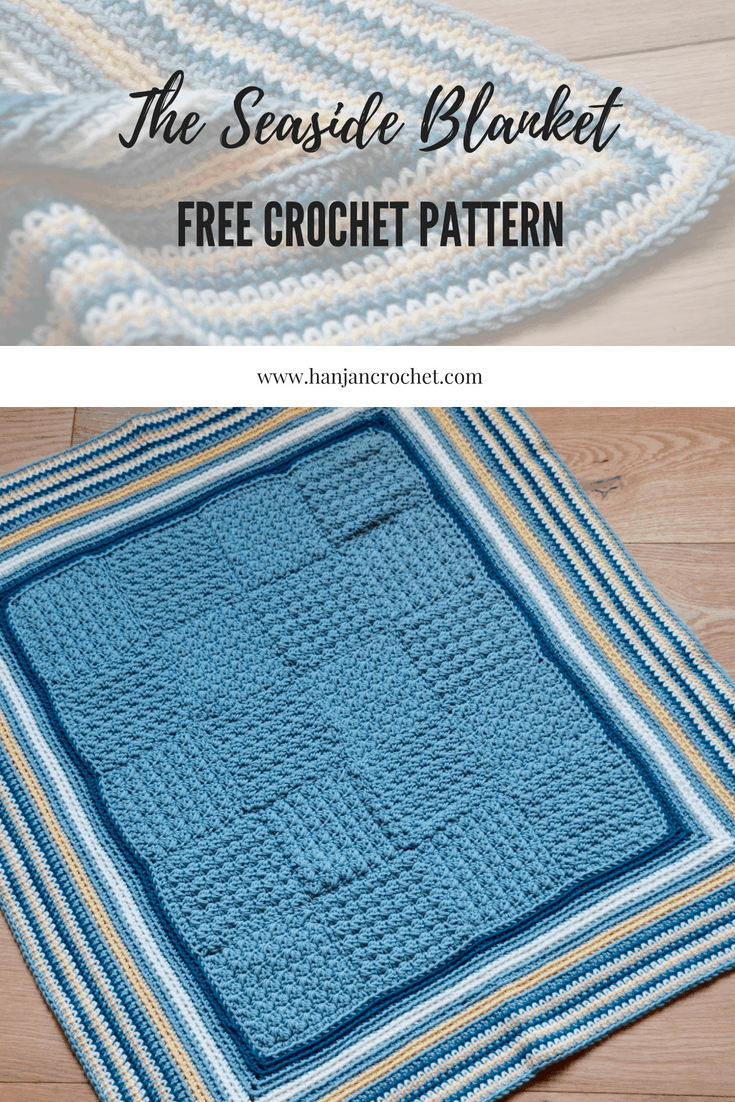 the seaside blanket free baby blanket crochet pattern by HanJan Crochet