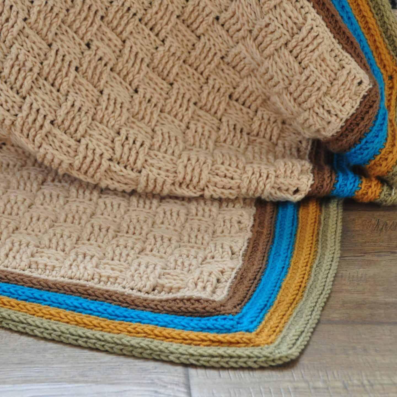 retro baby blanket crochet basketweave blanket free crochet pattern