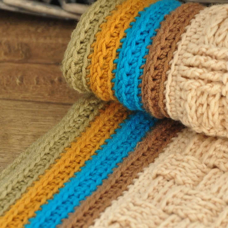 retro baby blanket free crochet pattern