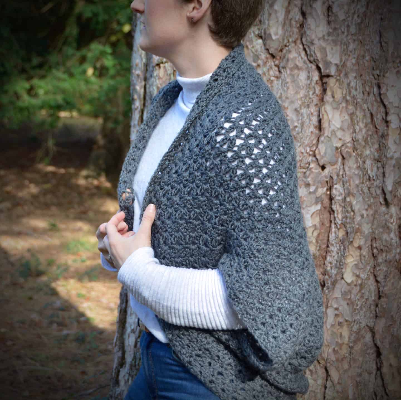 free crochet pattern autumn cluster cardigan Hannah Cross