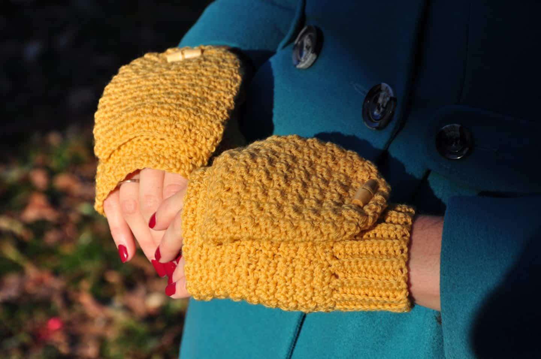 free crochet pattern winter mitts