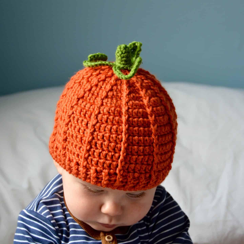 The Pumpkin Beanie Free Crochet Pumpkin Hat Pattern Hanjan Crochet