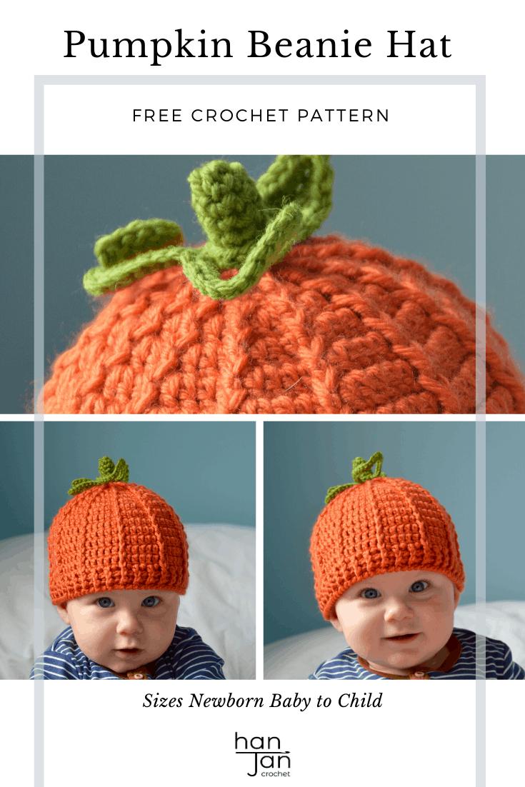 Pumpkin Beanie Hat 2