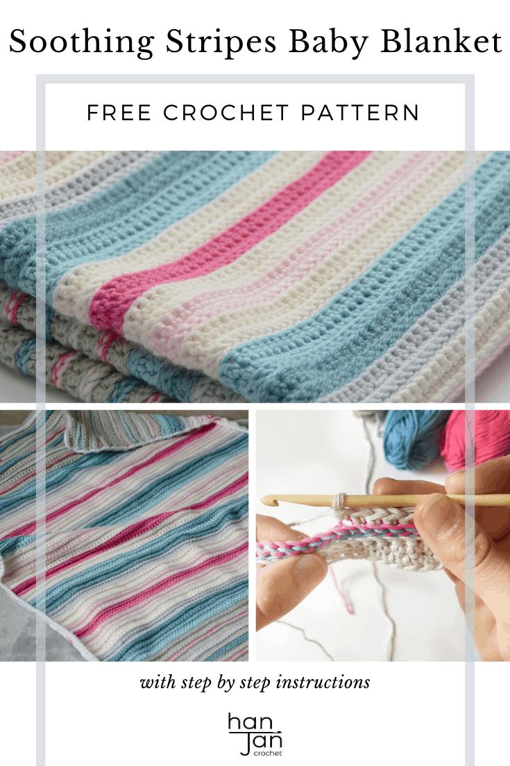 Soothing Stripes Baby Crochet Blanket 2
