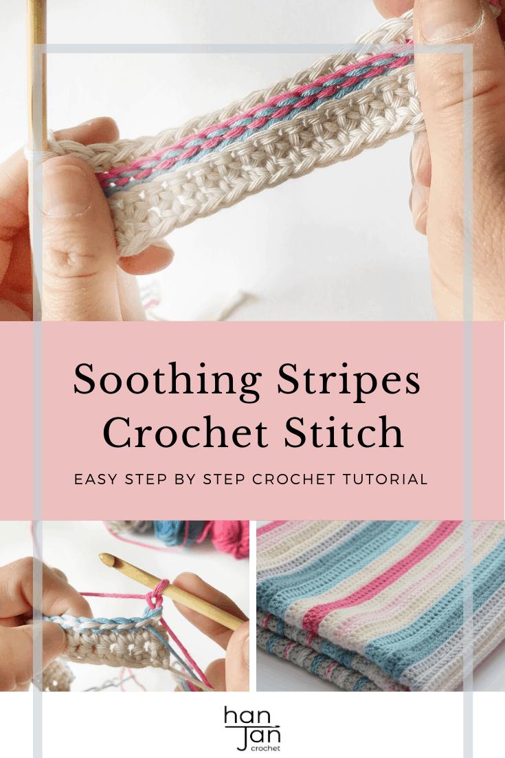 Soothing Stripes Blanket Crochet Stitch 3