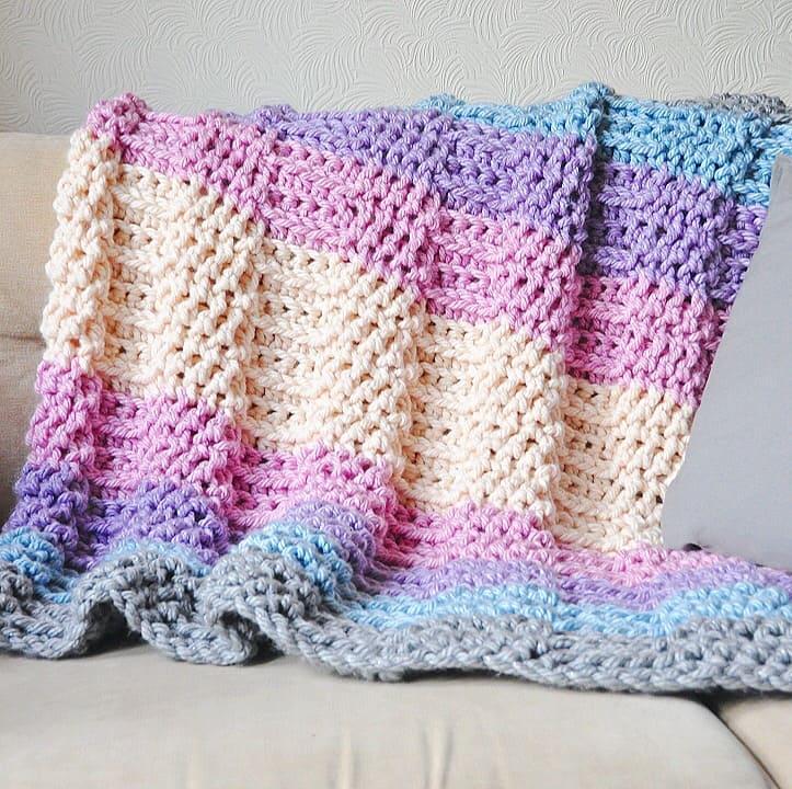 free crochet pattern by HanJan Crochet grande metallic throw