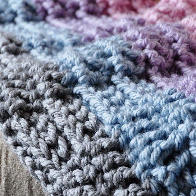 knit look chunky crochet throw blanket free crochet pattern
