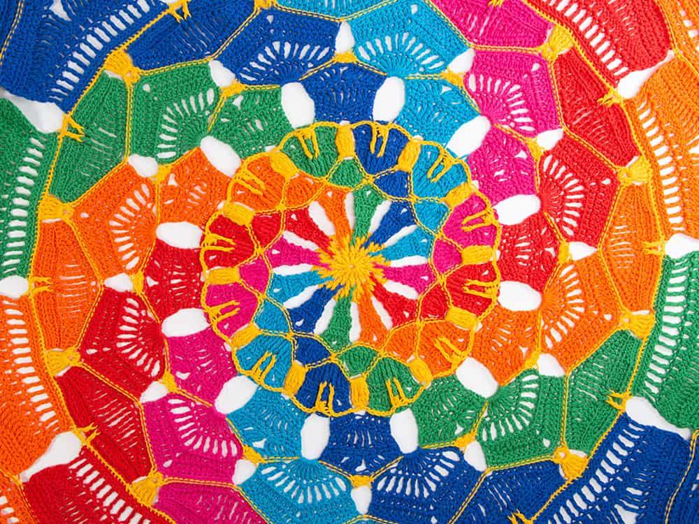 Kaleidoscope Mandala Throw CAL by Hannah Cross free crochet pattern