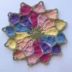 Kaleidoscope Mandala Throw CAL free crochet pattern by Hannah Cross