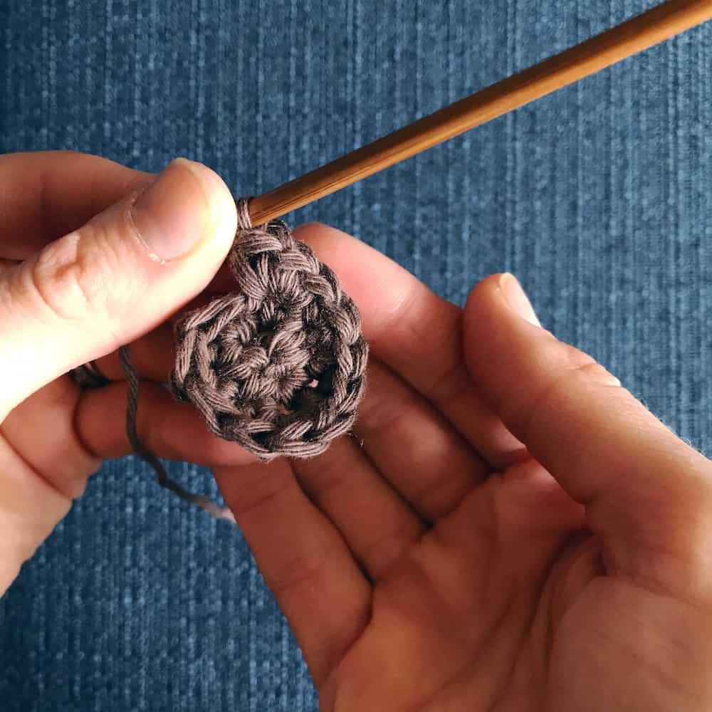 little lamb crochet appliqué. Easter applique for jumper by Hannah Cross, HanJan Crochet