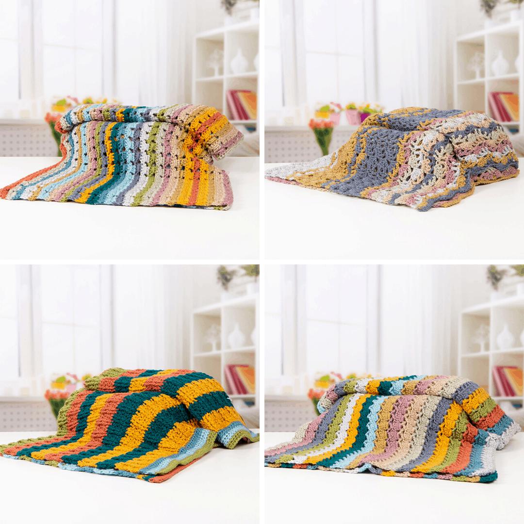 Afternoon Tea Blanket Collection by Hannah Cross HanJan Crochet for Deramores. Free crochet blanket patterns, learn to crochet, easy crochet blanket, vintage crochet blanket,