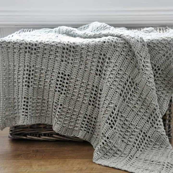 Silver Squares Blanket 1