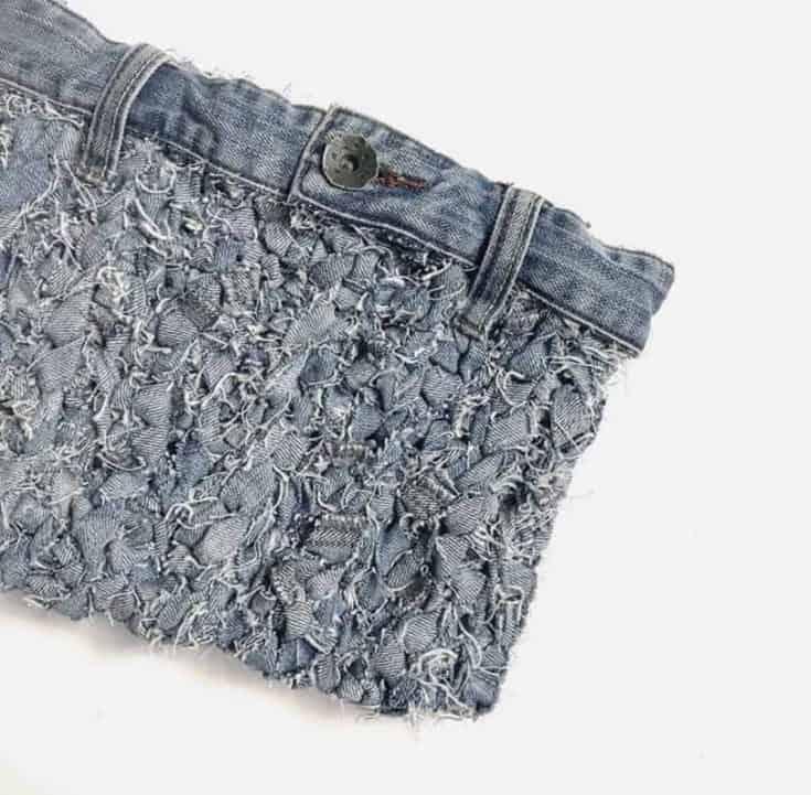 Jeans Yarn Clutch Bag 2