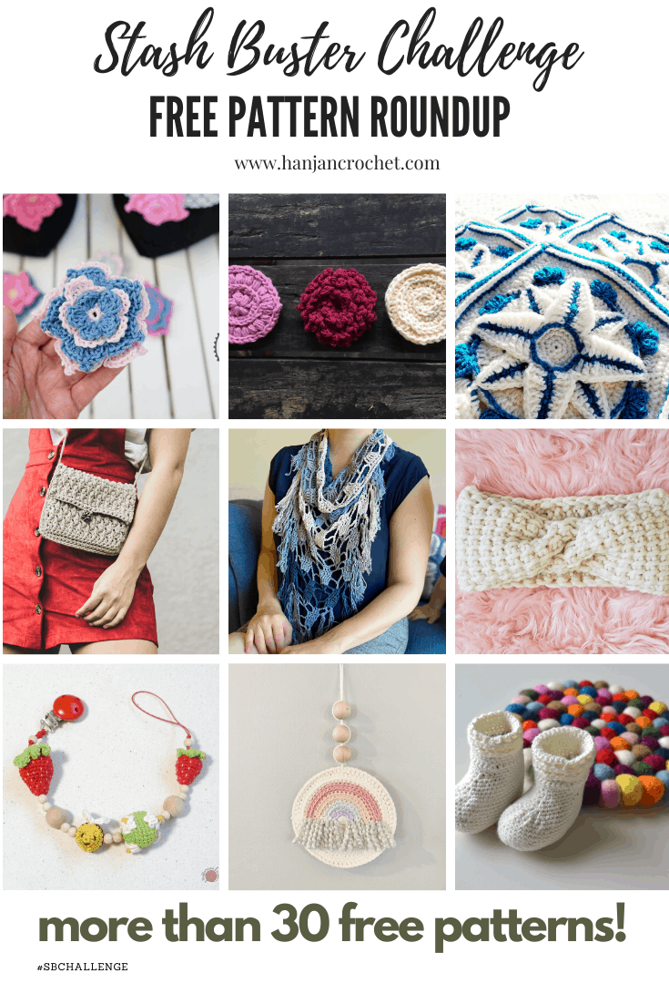 The Stash Buster Challenge week 4 - have you got a huge yarn stash that you need inspiration to use up? Here are more than 30 free crochet and knitting patterns to help you make a dent in your stash!