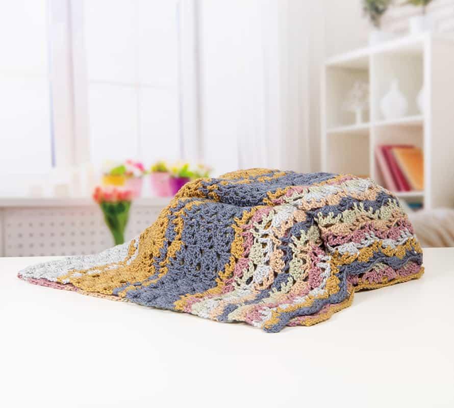 lacy wave stitch blanket