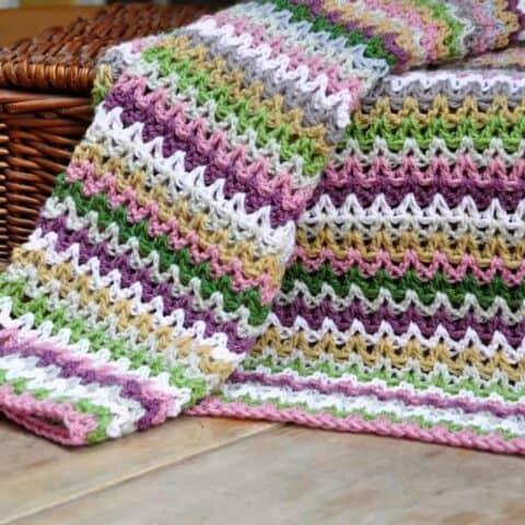 9. Yarn Stash Series V Stitch Blanket