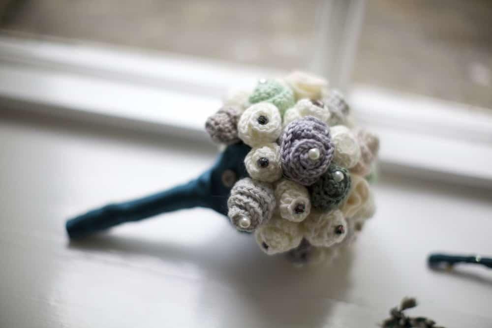 Bridesmaid wedding bouquet, how to crochet a wedding bouquet.
