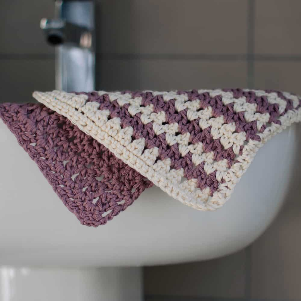 splash of colour spa washcloth, a free crochet pattern