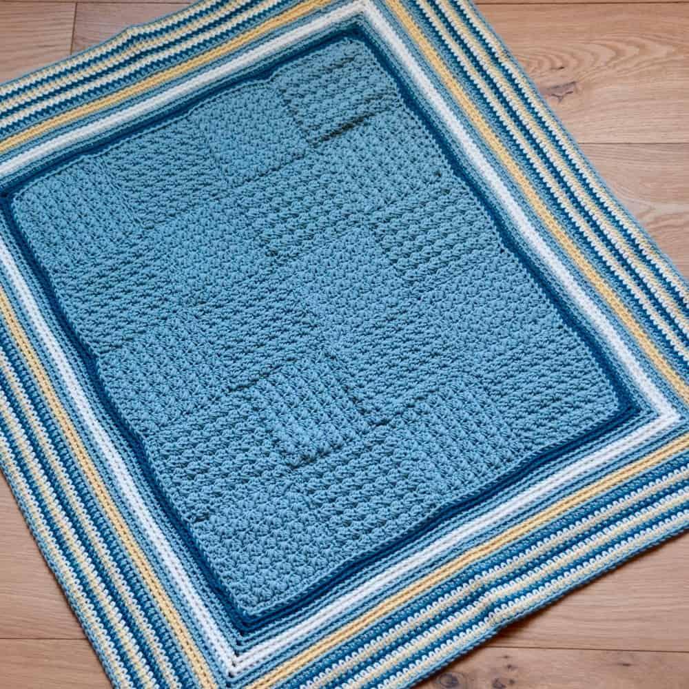 seaside baby crochet blanket