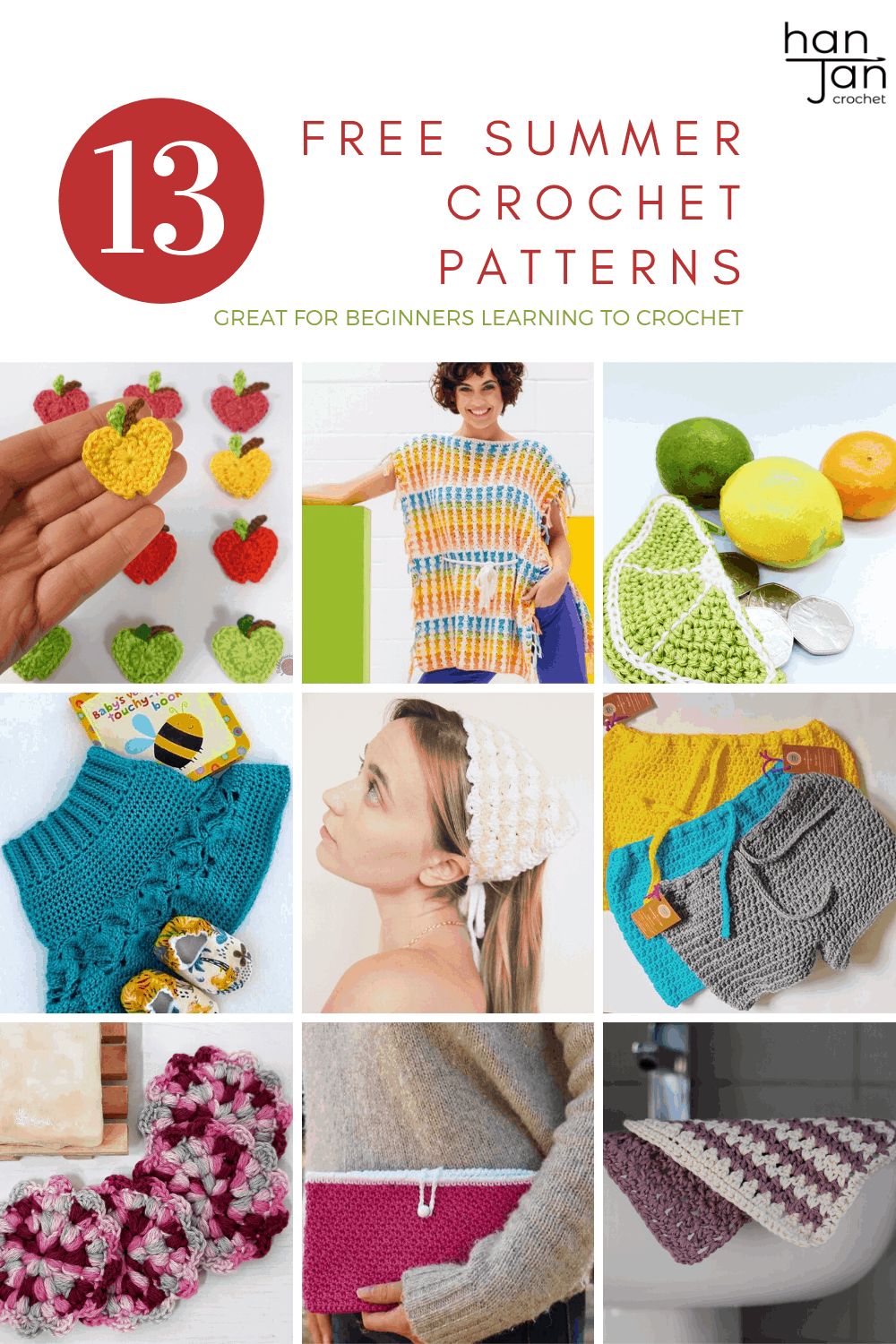 This collection of 12 free summer crochet patterns shows us that crochet isn't just a winter sport! Join the Summer Stitch Along and get free bag, top, and home crochet patterns.