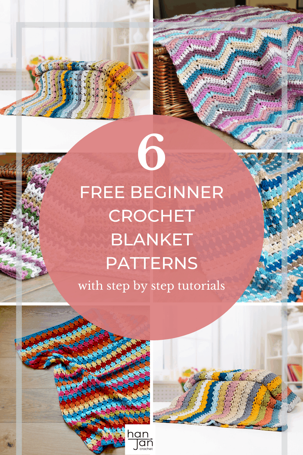 6 Easy Crochet Blanket Patterns For Beginners Hanjan Crochet