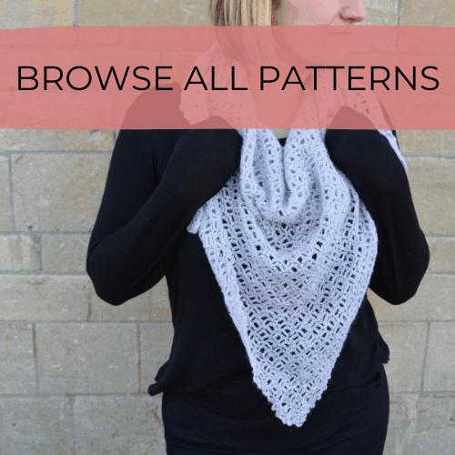 C2C corner to corner crochet shawl in grey