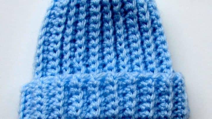 Basic Ribbed Crochet Beanie min