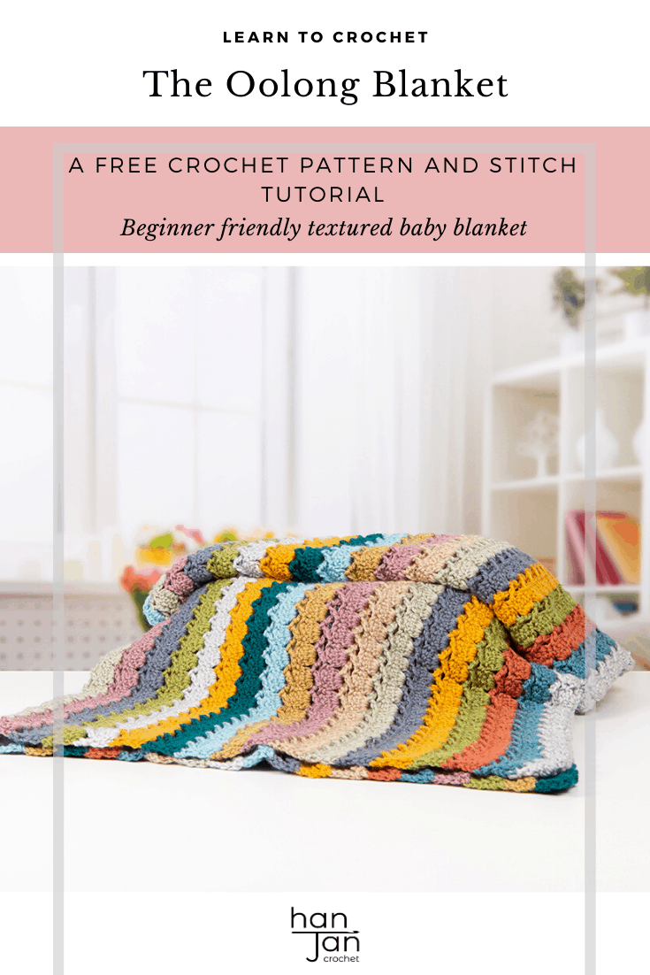 Learn to crochet the cabbage patch crochet stitch with this step by step tutorial and free crochet blanket pattern - The Oolong Blanket. Perfect for beginners and those wanting a mindful, calming project to use up their yarn stash. A free downloadable PDF crochet pattern.