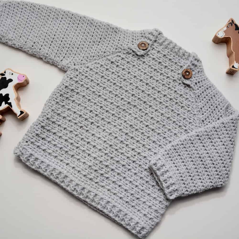 modern crochet baby sweater
