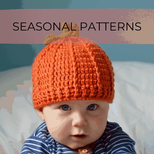 Crochet baby pumpkin beanie hat