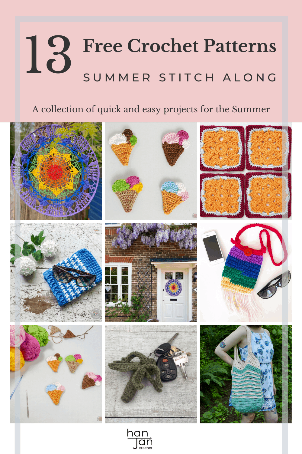 Free patterns to crochet for summer in the 3rd week of the Summer Stitch Along. From bags to shawls to home decor, we've got everything covered. Beginner friendly, bright and fun crochet inspiration