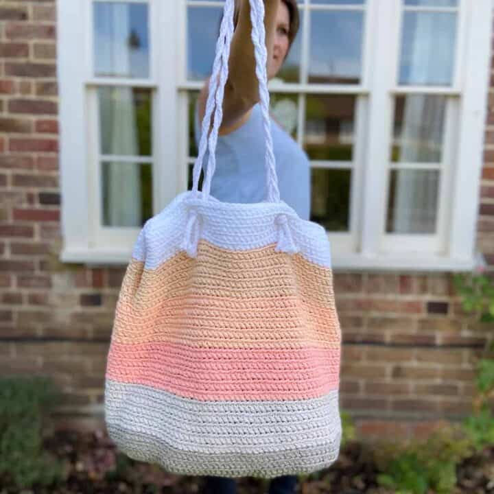 Summer Stripe Beach Bag 1