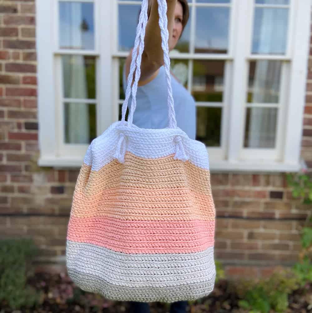 Green Crochet Bag Beach Bag Handmade Women Bag Handbag Slouchy Bag Shopping Bag Tote Crochet Purse