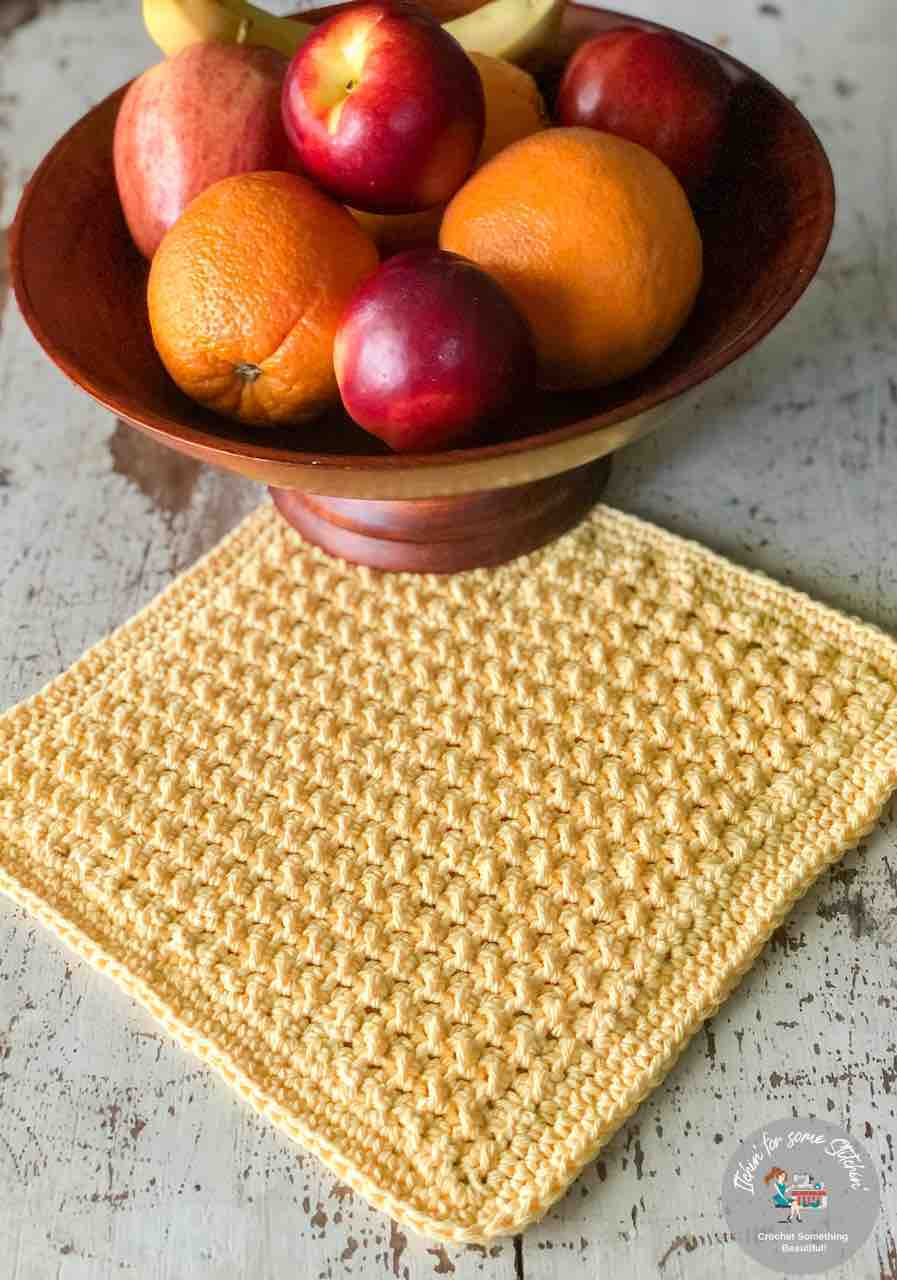 sunny days crochet washcloth for the home