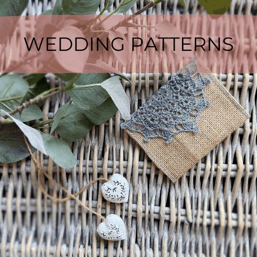 crochet wedding favour bag pouch