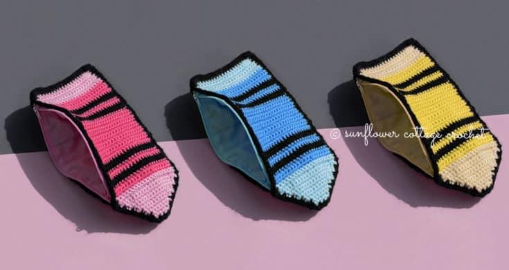scc crochet crayon pencil case feature image