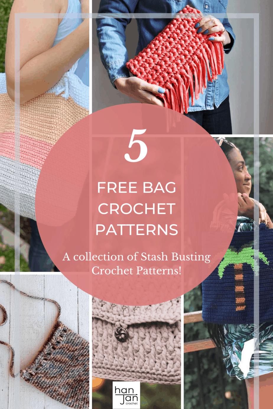 5 crochet summer bag patterns